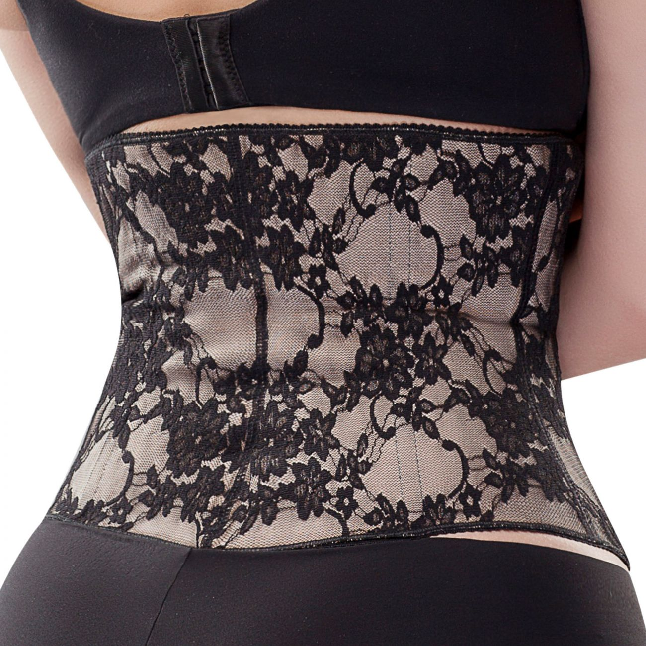 bc495d111f1 Shapewear for Women  Vedette 3102 Floral Lace Waist Cincher